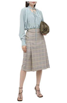 Женская шелковая блузка VICTORIA BECKHAM светло-зеленого цвета, арт. 1320WSH001694B | Фото 2