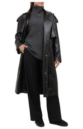 Женские кожаные кеды h365 HOGAN черного цвета, арт. HXW3650J971JCL   Фото 2