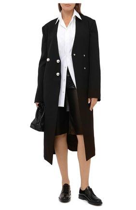 Женская кожаные дерби TOD'S черного цвета, арт. XXW59C0DD20SHA   Фото 2