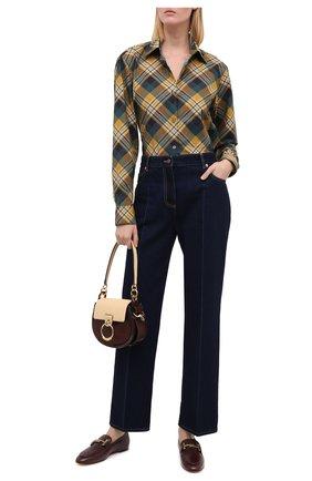 Женские кожаные лоферы TOD'S бордового цвета, арт. XXW79A0DE80TRP | Фото 2
