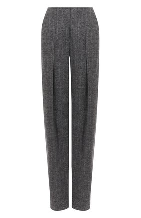Женские брюки из шерсти и хлопка GIORGIO ARMANI серого цвета, арт. 0WHPP0DG/T004G | Фото 1