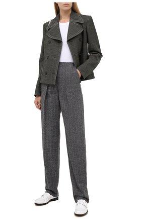 Женские брюки из шерсти и хлопка GIORGIO ARMANI серого цвета, арт. 0WHPP0DG/T004G | Фото 2