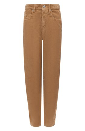 Женские хлопковые брюки ISABEL MARANT ETOILE бежевого цвета, арт. PA1367-20A032E/C0RSYV   Фото 1