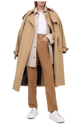 Женские хлопковые брюки ISABEL MARANT ETOILE бежевого цвета, арт. PA1367-20A032E/C0RSYV   Фото 2