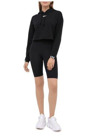 Женская хлопковое худи ADIDAS ORIGINALS черного цвета, арт. GD3090 | Фото 2