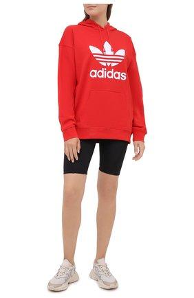 Женская хлопковое худи ADIDAS ORIGINALS красного цвета, арт. FM3298 | Фото 2