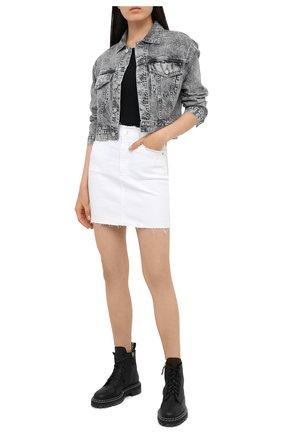 Женская джинсовая куртка AG серого цвета, арт. BKS4471/DIVN | Фото 2