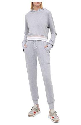 Женские джоггеры HEROINE SPORT серого цвета, арт. HS-4-101/PRE-FALL 2020 | Фото 2 (Материал внешний: Синтетический материал, Хлопок; Длина (брюки, джинсы): Стандартные; Женское Кросс-КТ: Джоггеры - брюки, Брюки-спорт; Кросс-КТ: Спорт; Силуэт Ж (брюки и джинсы): Джоггеры)