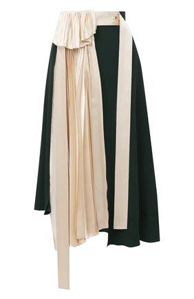 Женская юбка LANVIN зеленого цвета, арт. RW-ST411T-4562-A20 | Фото 1