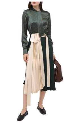 Женская юбка LANVIN зеленого цвета, арт. RW-ST411T-4562-A20 | Фото 2