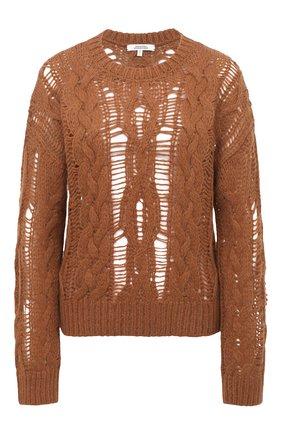 Женский шерстяной свитер DOROTHEE SCHUMACHER коричневого цвета, арт. 914202/FLUFFY C0MF0RT | Фото 1