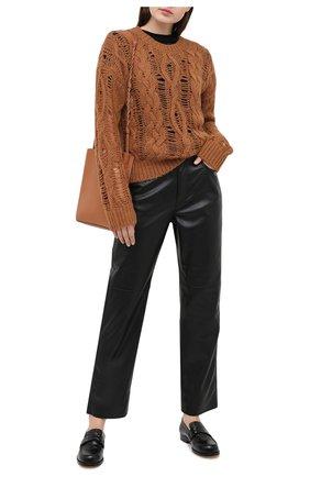 Женский шерстяной свитер DOROTHEE SCHUMACHER коричневого цвета, арт. 914202/FLUFFY C0MF0RT | Фото 2