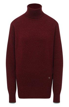 Женский кашемировый свитер VICTORIA BECKHAM бордового цвета, арт. 1320KJU001581A | Фото 1