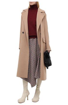 Женский кашемировый свитер VICTORIA BECKHAM бордового цвета, арт. 1320KJU001581A | Фото 2