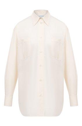 Женская шелковая рубашка VICTORIA BECKHAM белого цвета, арт. 1320WSH001454A | Фото 1