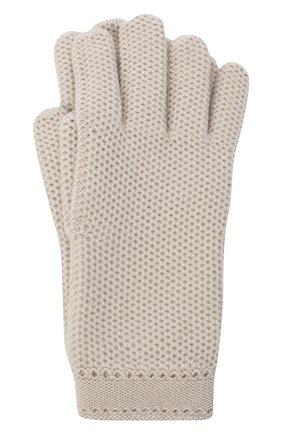 Женские кашемировые перчатки LORO PIANA светло-серого цвета, арт. FAA1252 | Фото 1 (Материал: Шерсть, Кашемир)