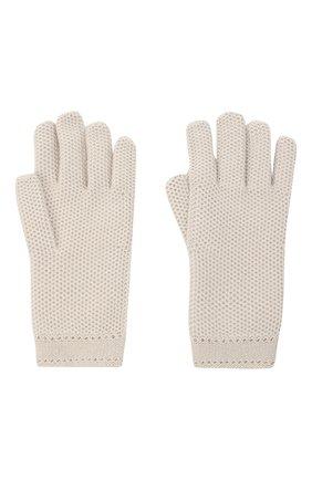 Женские кашемировые перчатки LORO PIANA светло-серого цвета, арт. FAA1252 | Фото 2 (Материал: Шерсть, Кашемир)