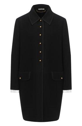 Женское шерстяное пальто MIU MIU черного цвета, арт. MS1632-1VE9-F0002   Фото 1