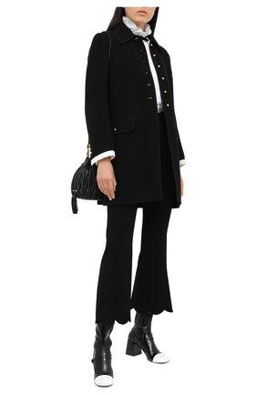 Женское шерстяное пальто MIU MIU черного цвета, арт. MS1632-1VE9-F0002   Фото 2