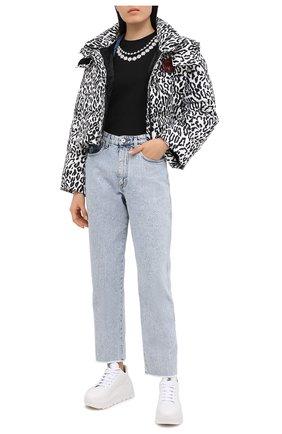 Женская куртка MIU MIU черно-белого цвета, арт. ML610-1VZZ-F0009   Фото 2