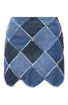 Женская джинсовая юбка MIU MIU синего цвета, арт. GWD222-IFD-F0008 | Фото 1