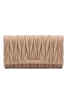 Женская сумка MIU MIU бежевого цвета, арт. 5BH080-N88-F0770-COM   Фото 1