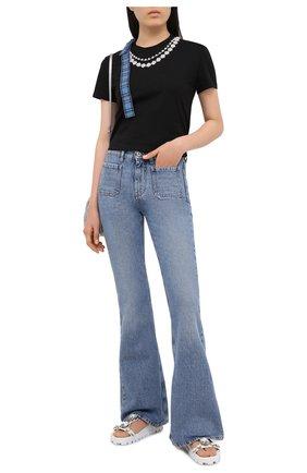 Женские джинсы MIU MIU синего цвета, арт. GWP303-1VJ0-F0013   Фото 2