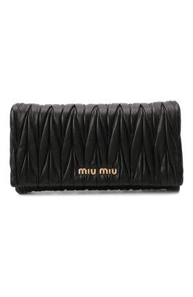 Женская сумка MIU MIU черного цвета, арт. 5BH080-N88-F0002-COM | Фото 1