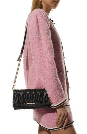 Женская сумка MIU MIU черного цвета, арт. 5BH080-N88-F0002-COM   Фото 2
