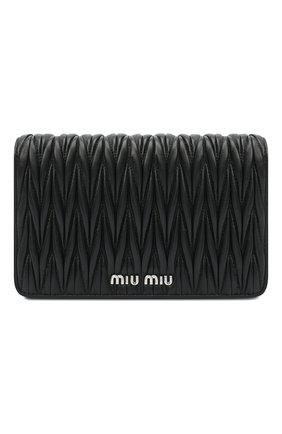 Женская сумка MIU MIU черного цвета, арт. 5BP001-N88-F0002-IOO   Фото 1