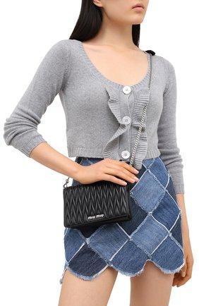Женская сумка MIU MIU черного цвета, арт. 5BP001-N88-F0002-IOO   Фото 2