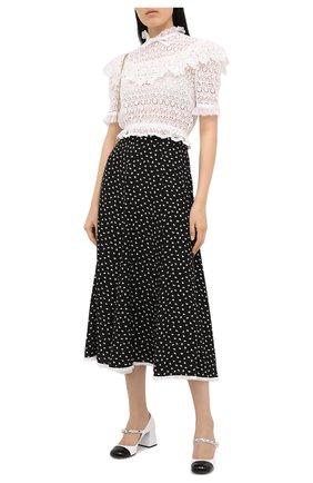 Женская шелковая юбка MIU MIU черного цвета, арт. MG1457-1XLA-F0002 | Фото 2