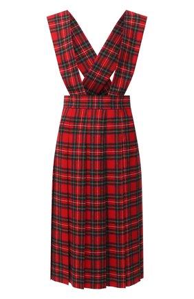 Женское шерстяное платье MIU MIU красного цвета, арт. MF3894-1XIE-F0011   Фото 1