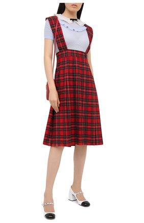 Женское шерстяное платье MIU MIU красного цвета, арт. MF3894-1XIE-F0011   Фото 2