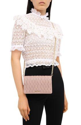 Женская сумка MIU MIU бежевого цвета, арт. 5BP001-N88-F0770-OOO   Фото 2