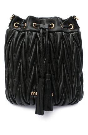 Женская сумка MIU MIU черного цвета, арт. 5BE014-N88-F0002-OOO   Фото 1