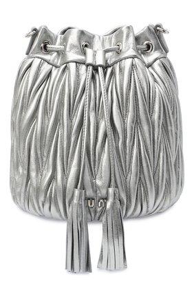 Женская сумка MIU MIU серебряного цвета, арт. 5BE014-N88-F0135-OOO   Фото 1
