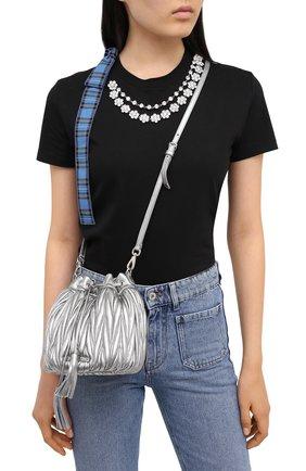 Женская сумка MIU MIU серебряного цвета, арт. 5BE014-N88-F0135-OOO   Фото 2