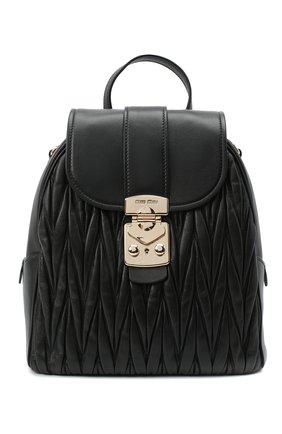 Женский рюкзак MIU MIU черного цвета, арт. 5BZ026-N88-F0002-OOO | Фото 1