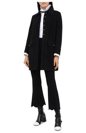 Женские брюки MIU MIU черного цвета, арт. MP1401-4KT-F0002   Фото 2