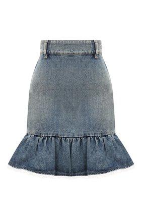 Женская джинсовая юбка MIU MIU синего цвета, арт. GWD242-1XHD-F0008 | Фото 1