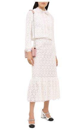 Женская хлопковая юбка MIU MIU белого цвета, арт. MG1442-1DS9-F0009   Фото 2