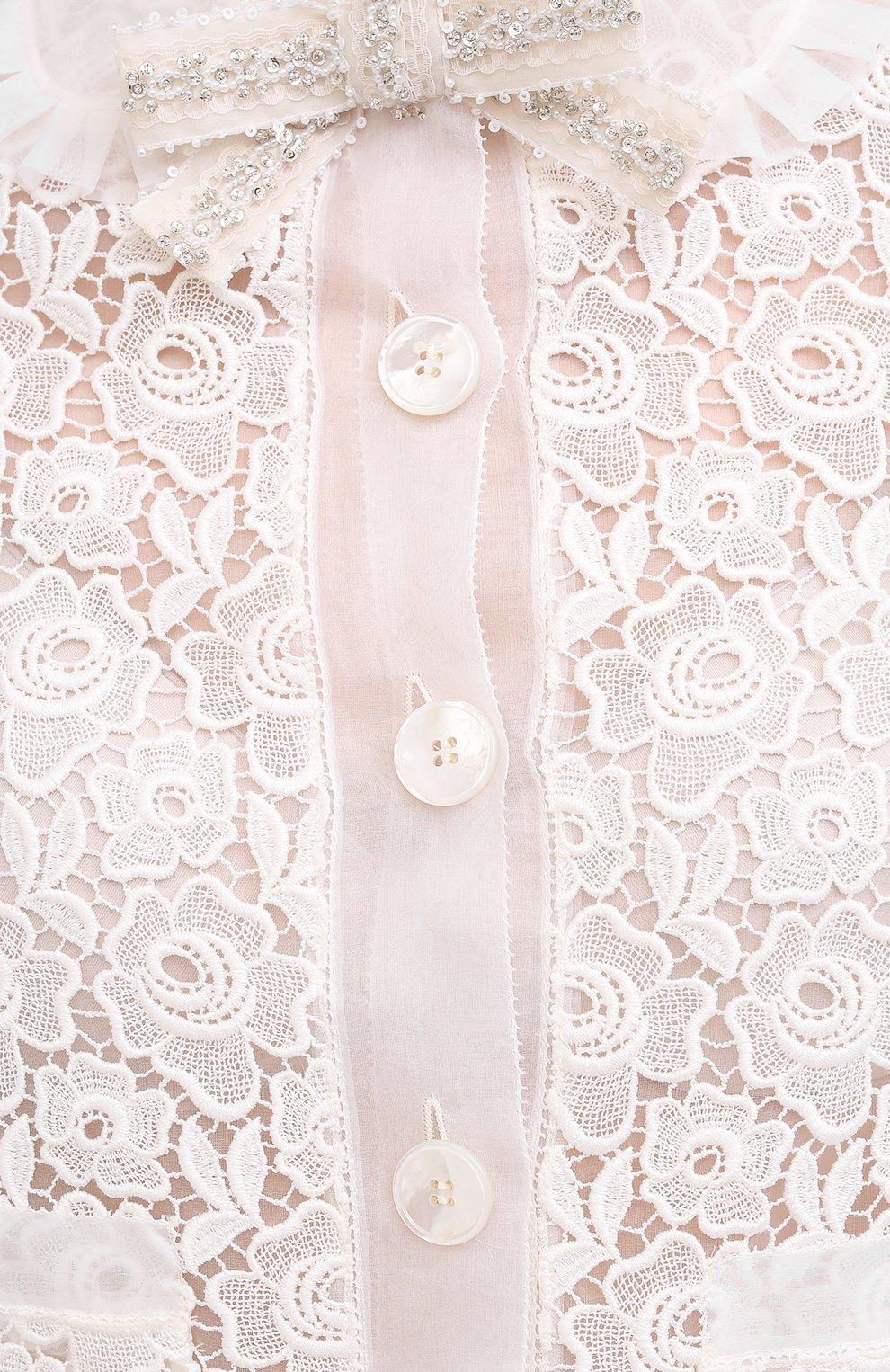 Женский хлопковый жакет MIU MIU белого цвета, арт. MH1601-1DS9-F0009 | Фото 6 (Рукава: Длинные; Случай: Повседневный; Материал внешний: Хлопок; 1-2-бортные: Однобортные; Длина (для топов): Укороченные; Женское Кросс-КТ: Жакет-одежда)