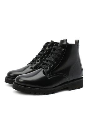 Детские кожаные ботинки BEBERLIS черного цвета, арт. 21548-A/31-34   Фото 1