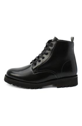 Детские кожаные ботинки BEBERLIS черного цвета, арт. 21548-A/31-34   Фото 2