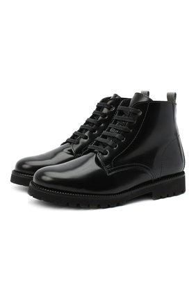 Детские кожаные ботинки BEBERLIS черного цвета, арт. 21548-A/35-38   Фото 1