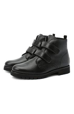Детские замшевые ботинки BEBERLIS черного цвета, арт. 21550/35-38   Фото 1