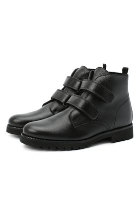 Детские замшевые ботинки BEBERLIS черного цвета, арт. 21550/39-40   Фото 1