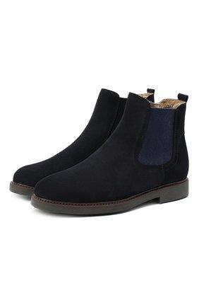 Детские замшевые ботинки BEBERLIS синего цвета, арт. 21551/35-38   Фото 1