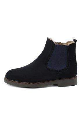 Детские замшевые ботинки BEBERLIS синего цвета, арт. 21551/35-38   Фото 2